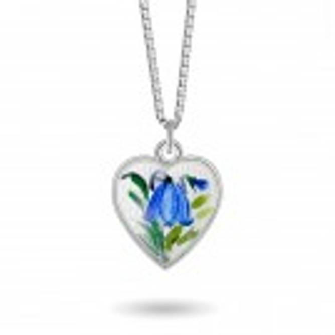 Bilde av Blåklokke hjerte smykke,