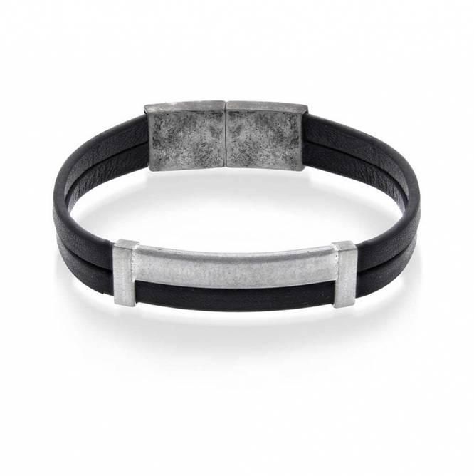 Bilde av Skinn armbånd, stål