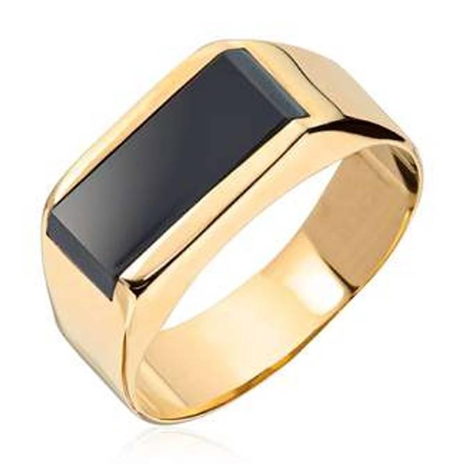 Bilde av Gull ring med Onyx