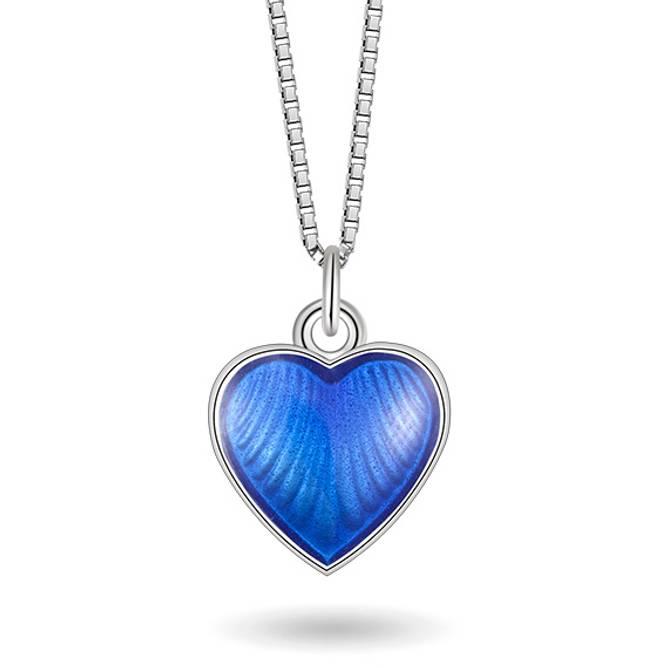 Bilde av Blå hjerte smykke, lite