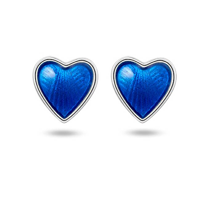 Bilde av Blå hjerte ørepynt