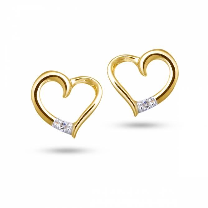 Bilde av Gull ørepynt, hjerte med