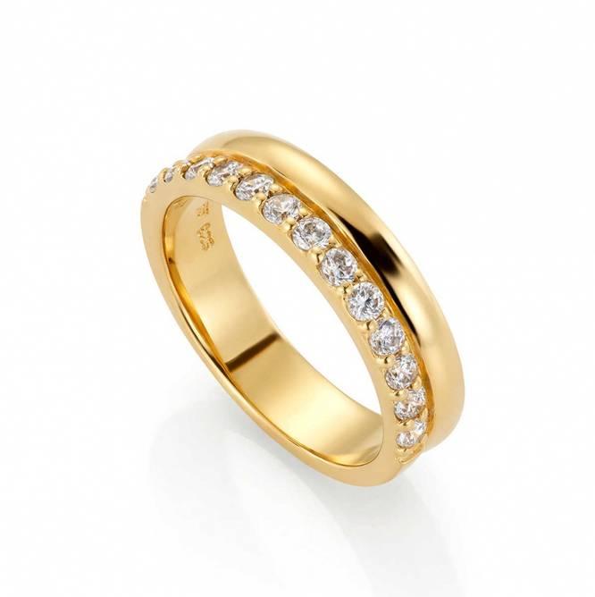 Bilde av Forgylt sølv ring med